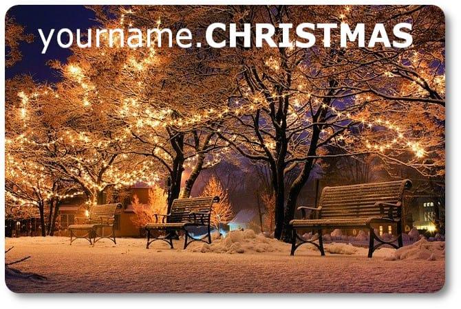 Get your dot CHRISTMAS domain now